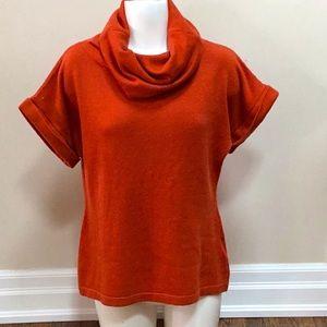 Cleo Orange Cowl Neck Sweater